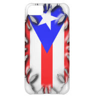 Puerto Rican Flag - Tribal iPhone 5C Covers