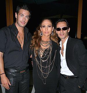 Kostas Martakis, Jennifer Lopez and Marc Anthony