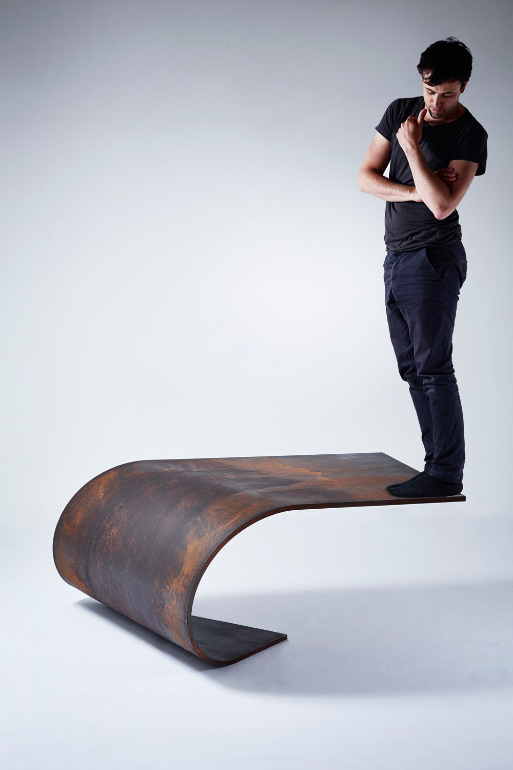 A Perfectly Balanced Table Made of Steel
