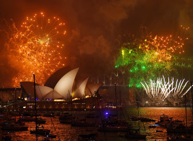 Sydney's fireworks featured a special display designed by Hugh Jackman