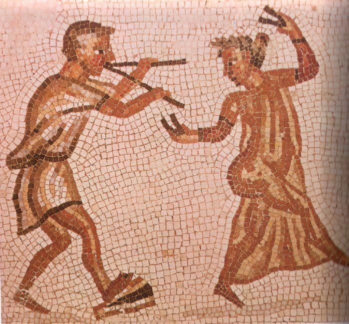 Danza de una comedia romana. Museo Pío Clementino. Vaticano