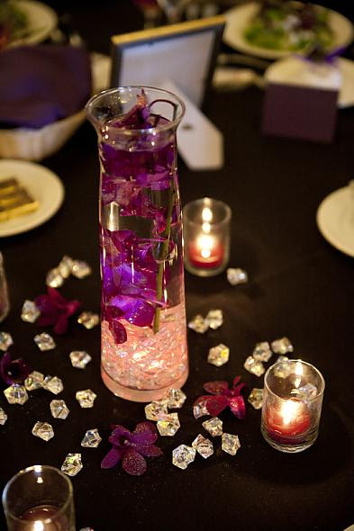 Felicias Blog Our Simple Centerpiece With Purple Orchid And