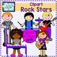 Rock stars theme decor set {papers, borders and clipart}