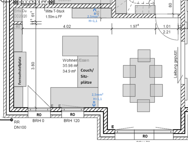 Hausneubau HiFi-Anordnung Wohnzimmer, Lautsprecher - HIFI ...