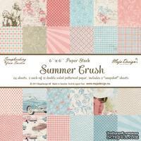 Набор бумаги для скрапбукинга от Maja Design - Summer Crush Paper stack 6x6, 24 листа, 15х15 см - ScrapUA.com