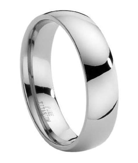 6mm Men's Comfort Fit Titanium Band with Domed Polished