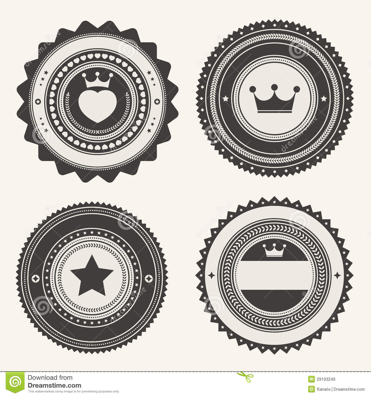 Set Of Retro Vintage Badges And Labels Royalty Free Stock Images ...