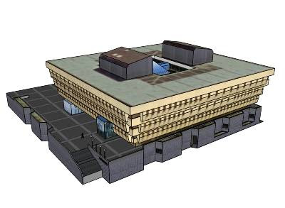 National Library of New Zealand, Google Earth Model Image