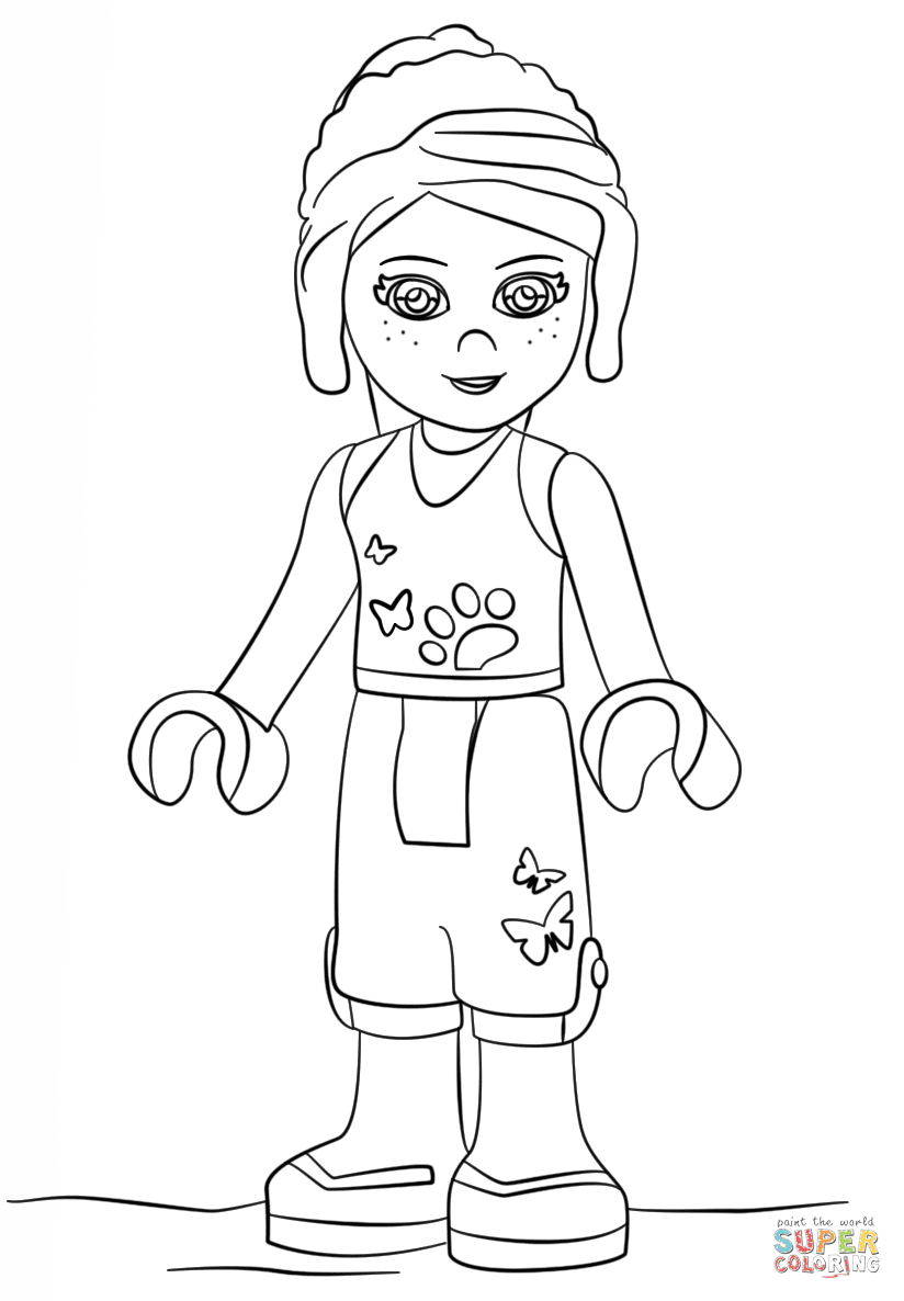 Lego Friends Mia coloring page