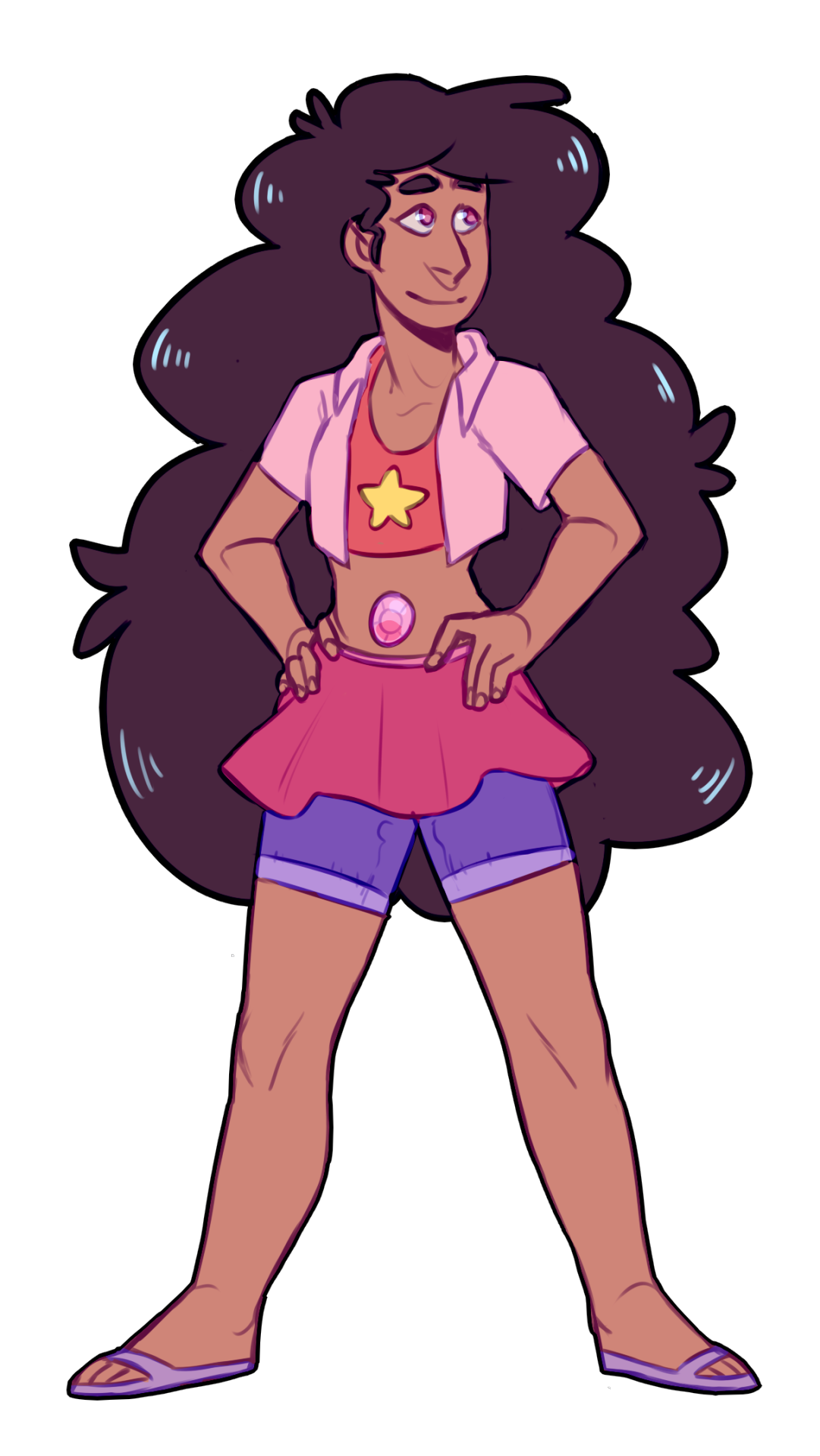 alternate stevonnie - based on the outfits from 'steven's birthday'