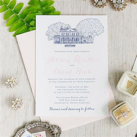 Legare Waring House Wedding Invitation ? Scotti Cline Designs