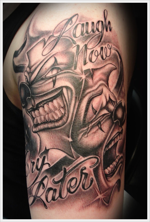 Laugh Now Cry Later Clown Tattoo Tattoomagz