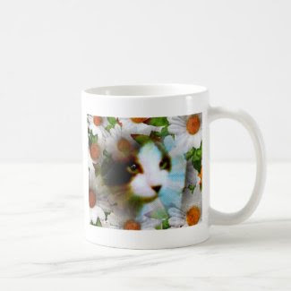 canvas kitty classic white coffee mug