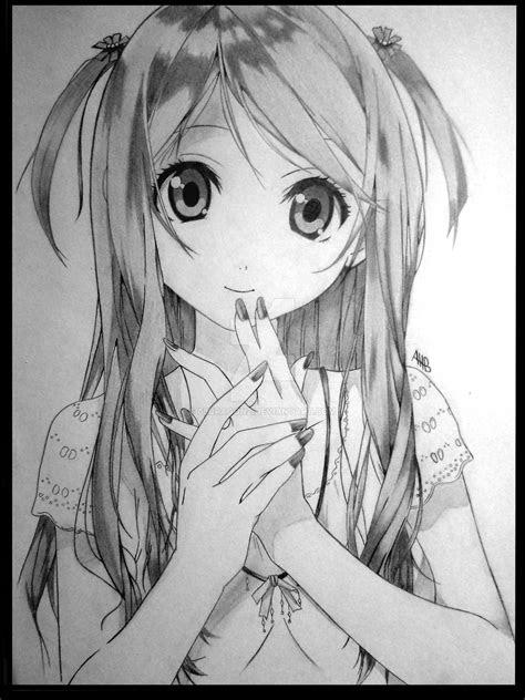 drawing   cute girl  dragonz  deviantart
