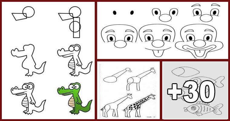 Dibujos Fáciles Paso A Paso Para Niños Biblioteca Del Maestro