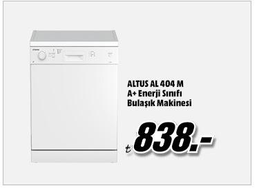 ALTUS AL 404 M A+ Enerji Sınıfı Bulaşık Makinesi 838TL