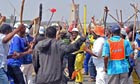 Carletonville miners strike