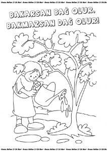 Dag Resmi Boyama Okul Oncesi Coloring Free To Print