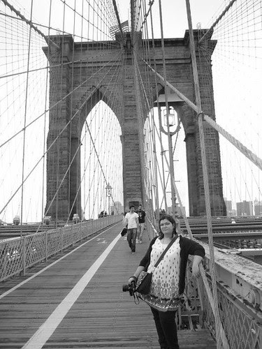 Me on the Brooklyn bridge