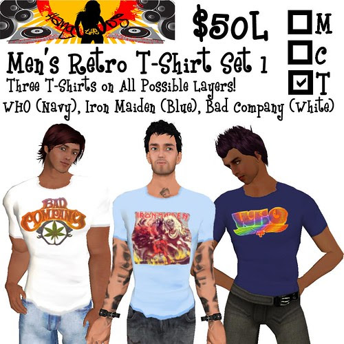 HTDJ! Men's Retro T-Shirts Set 1_Ad