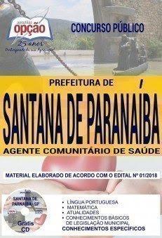 Apostila Concurso Prefeitura de Santana de Parnaíba 2018 | AGENTE COMUNITÁRIO DE SAÚDE