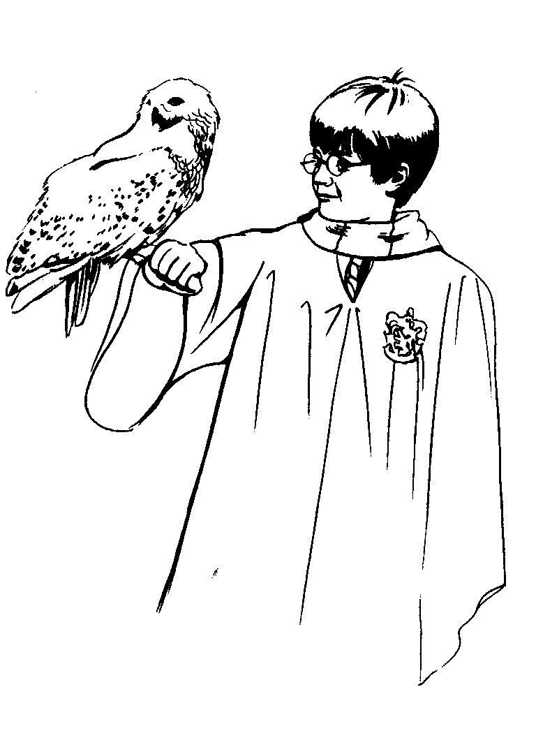Colouring In Pages Harry Potter Printable harry potter coloring pages me