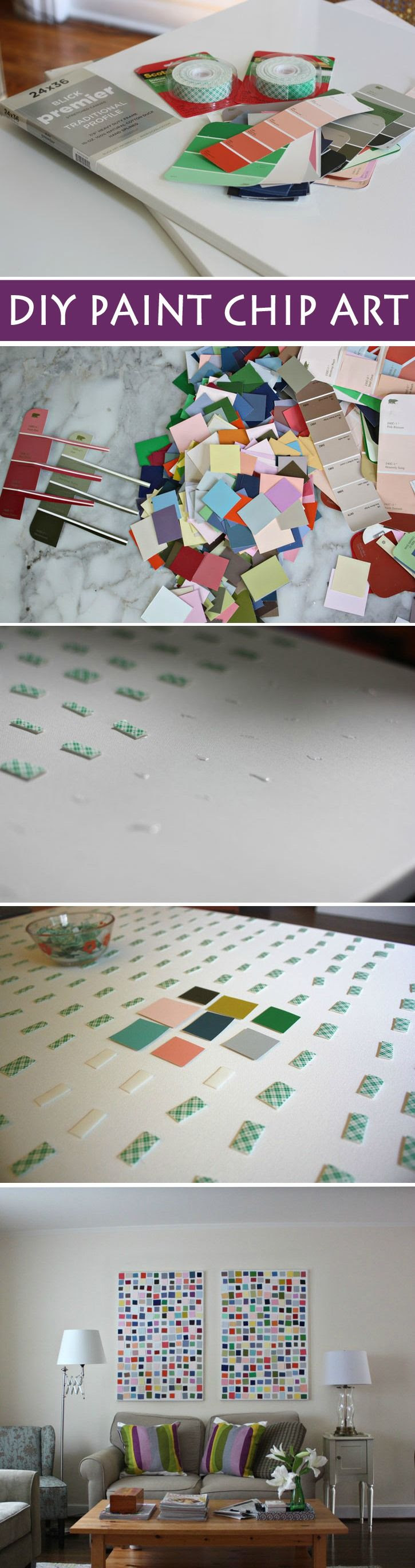 How to make paint chip art... it's easy and CHEAP!