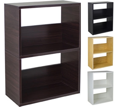 Way Basics Eco-Friendly Duplex Bookcases