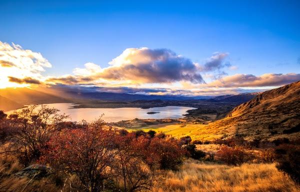 New Zealand South Island scenery Stock Photo
