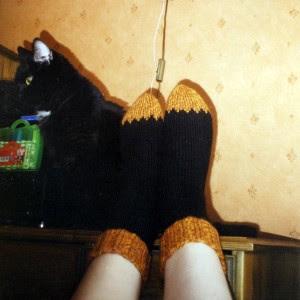 Toes on Fire socks, again