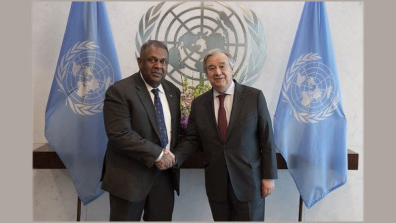 Finance Minister meets UN Secretary-General in New York