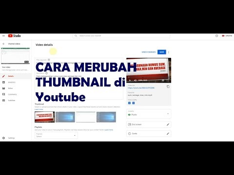 Merubah Thumbnail di Yotube
