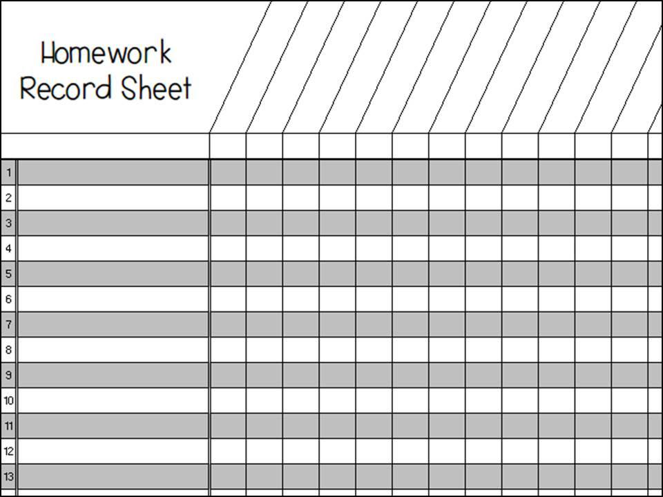 Superb image inside printable homework log