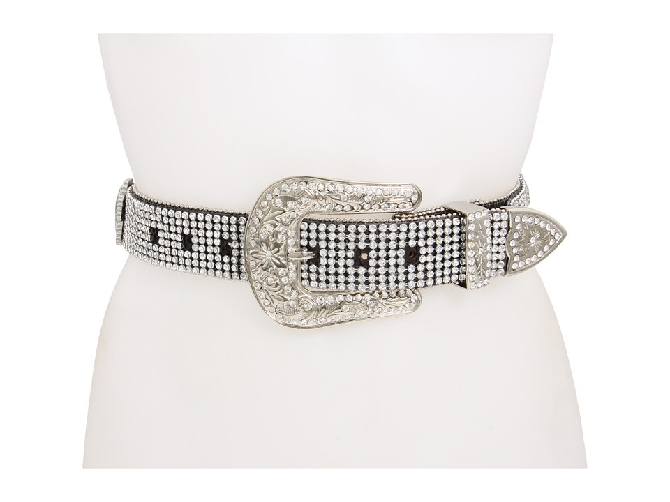 M&F Western - Crystal Cross Rhinestone (Black) Women's Belts
