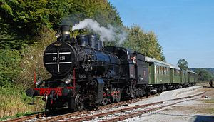 Museum train, property of Slovenske železnice....