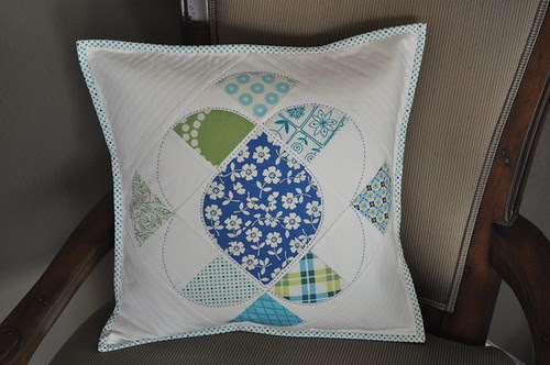 Curved Pieced Pillow