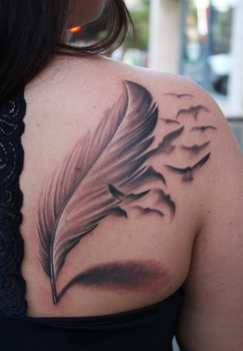 Flower Tattoo Designs Compelling Unusual Feather Tattoos