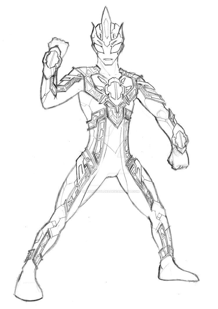 ahmedatheism Gambar Mewarnai Ultraman Cosmos