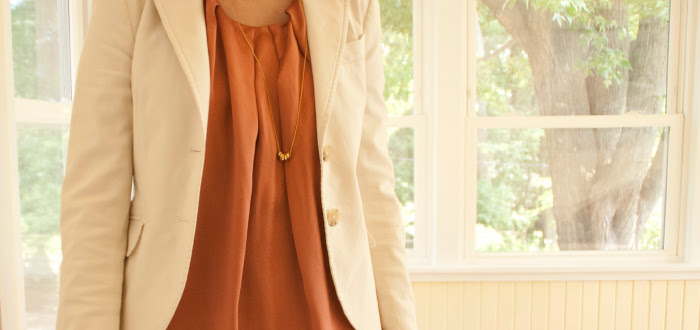 dashdotdotty dash dot dotty super cool fashion blog joie dress rust theory jacket white wedges mrkt hexnuts