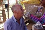 Andrew eating jackfruit