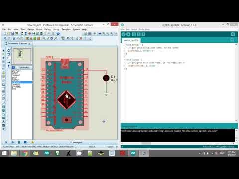 Video Cara Memprogram Arduino di Proteus
