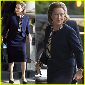 Meryl Streep Begins Filming 'The Papers' Alongside Director Steven Spielberg