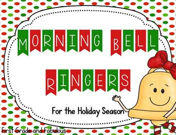 Morning Bell Ringers for the Holiday Season-First Grade and Fabulous