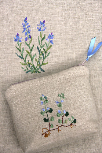Embroidered bag and pouch 2