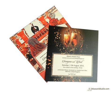 Golden Crown Design Wedding Card Invitation
