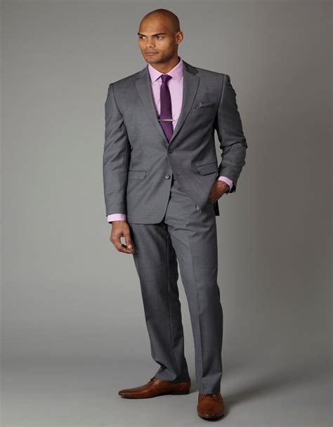 Grey Slim Fit 2018 Groom Tuxedos Wedding Suits Two Buttons