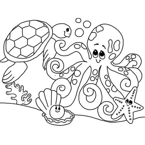 cute sea animals coloring pages getcoloringpagescom