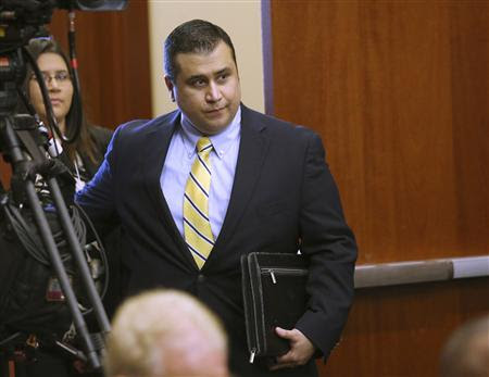 George Zimmerman arrives for his trial in Seminole circuit court in Sanford