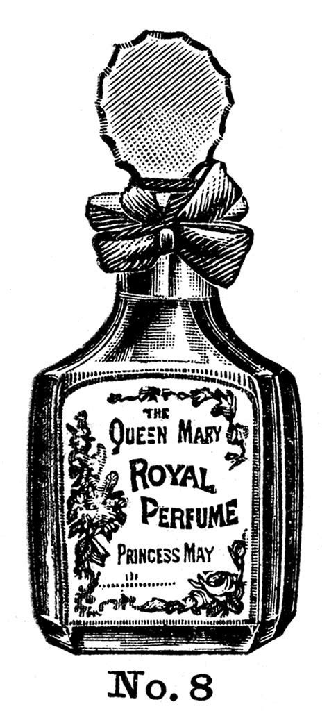 Vintage Beauty Clip Art   Perfume and Powder   The