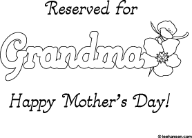 mothers day gift for grandma make a place mat